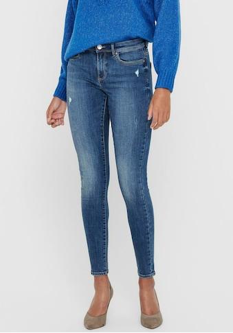 Only Skinny-fit-Jeans »ONLWAUW«, mit leichten Destroyed Effekten kaufen