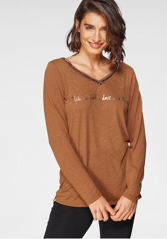 Boysen's Langarmshirt, mit Paillettenaplikation und Print kaufen