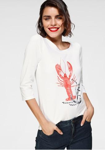 Tamaris 3/4-Arm-Shirt, mit maritimem Frontprint - NEUE KOLLEKTION kaufen