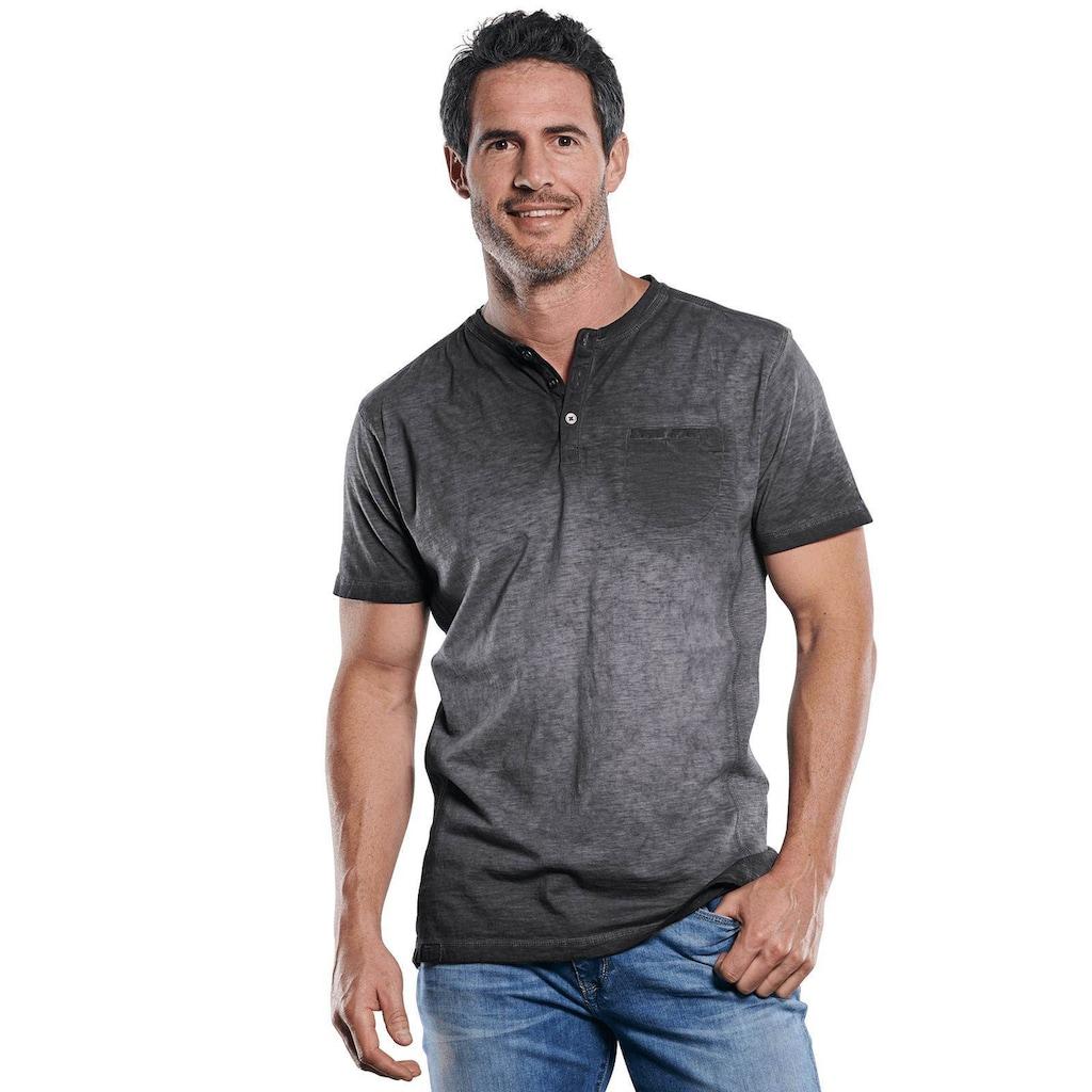Engbers Lässiges Henley T-Shirt in aussergewöhnlicher Optik