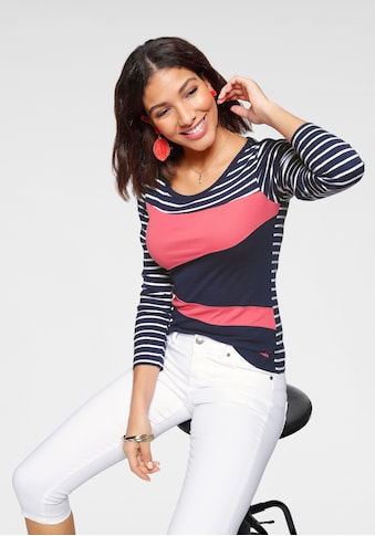 KangaROOS Langarmshirt, in tollem Color-Blocking-Design kaufen