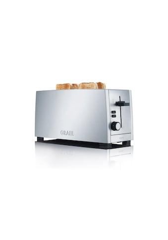 Graef Toaster »TO 100«, 4 kurze Schlitze, für 4 Scheiben, 1380 W kaufen