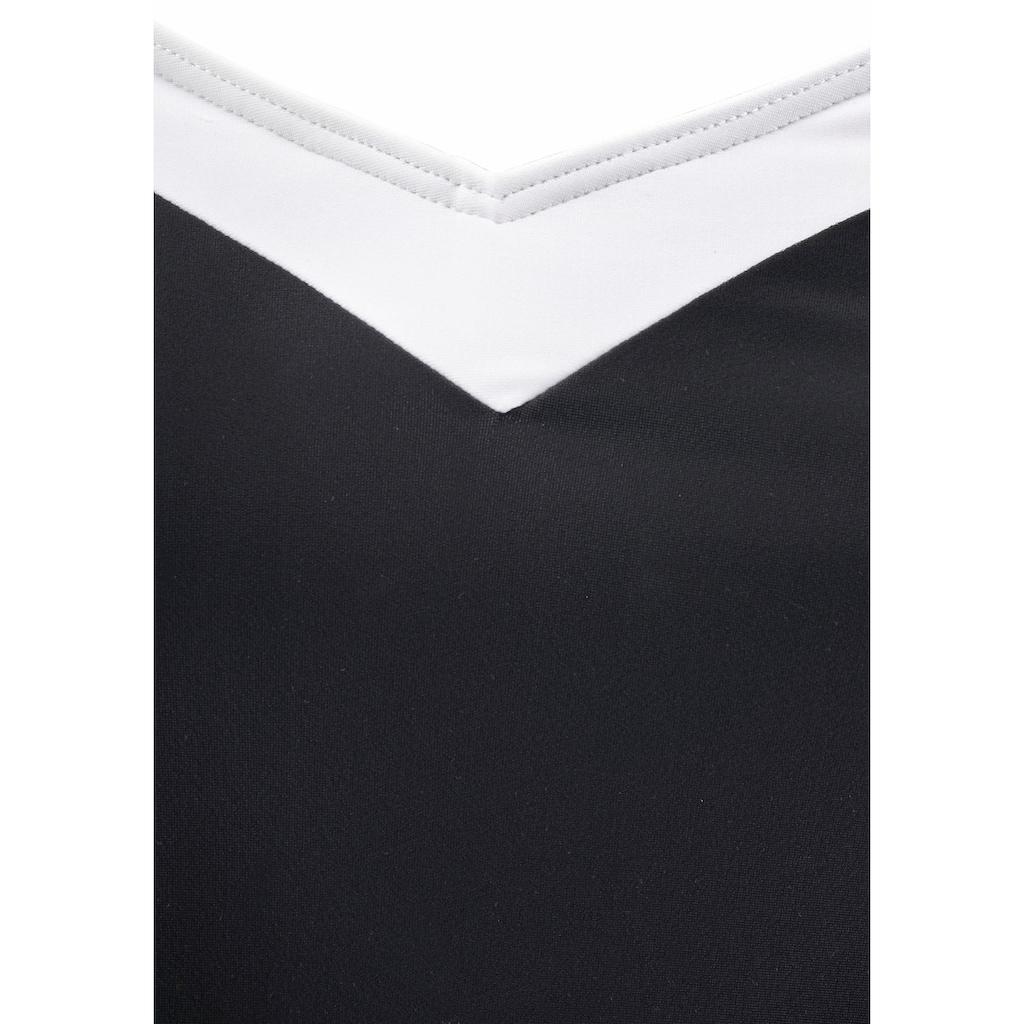 LASCANA Badekleid, mit Kontrasteinsätzen