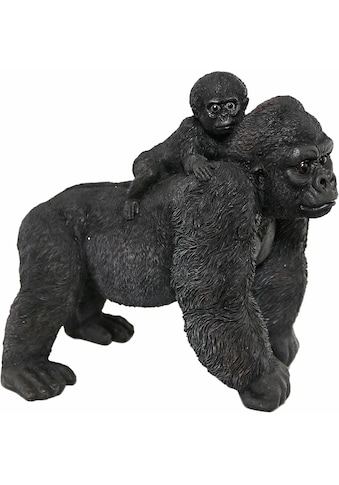 Casa Collection by Jänig Tierfigur »Gorilla mit Jungen auf Rücken, Breite: 37cm« kaufen