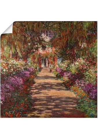 Artland Wandbild »Weg in Monets Garten in Giverny. 1902«, Garten, (1 St.), in vielen... kaufen
