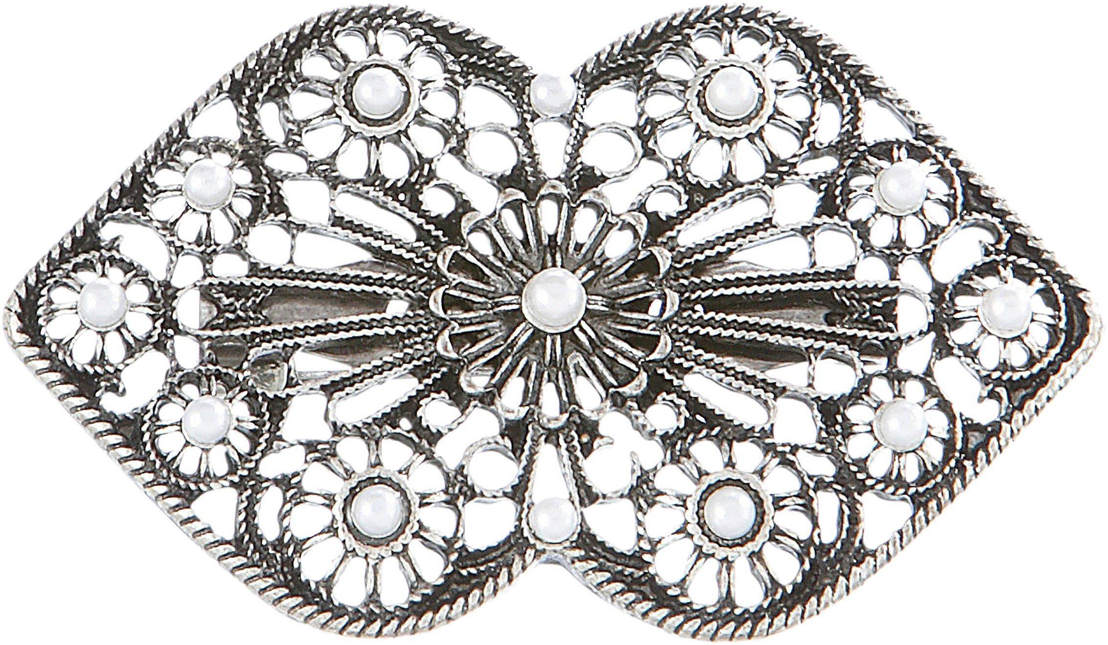 Image of Alpenflüstern Brosche, Trachten mit Perlen