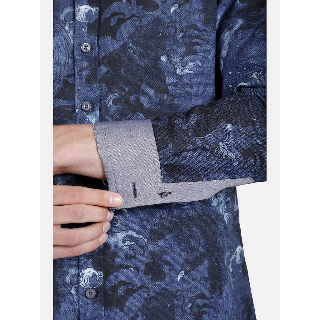 SHIRTMASTER Langarmhemd »theblueeagle«, Baumwollhemd mit Paisleymuster