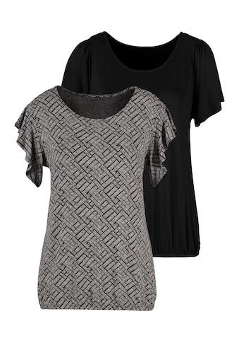 Vivance T-Shirt, mit kurzen Volantärmelchen kaufen