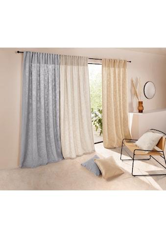 LeGer Home by Lena Gercke Vorhang »LIVIA«, mit schwerer Bouclé-Optik kaufen