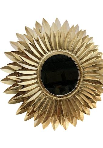 Home affaire Dekospiegel »Blumen goldfarben«, Wanddeko kaufen