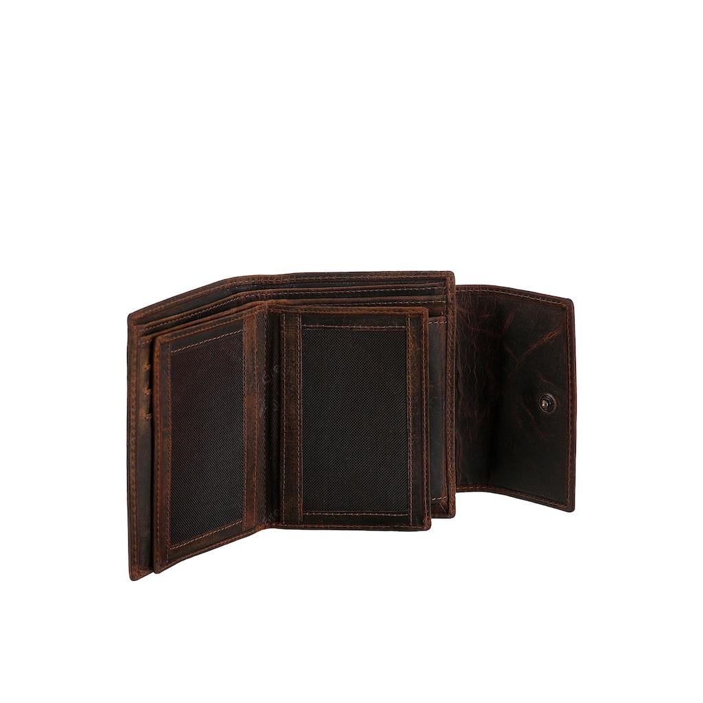 GreenLand Nature Geldbörse »Classic«, aus hochwertigem Leder mit praktischer Einteilung