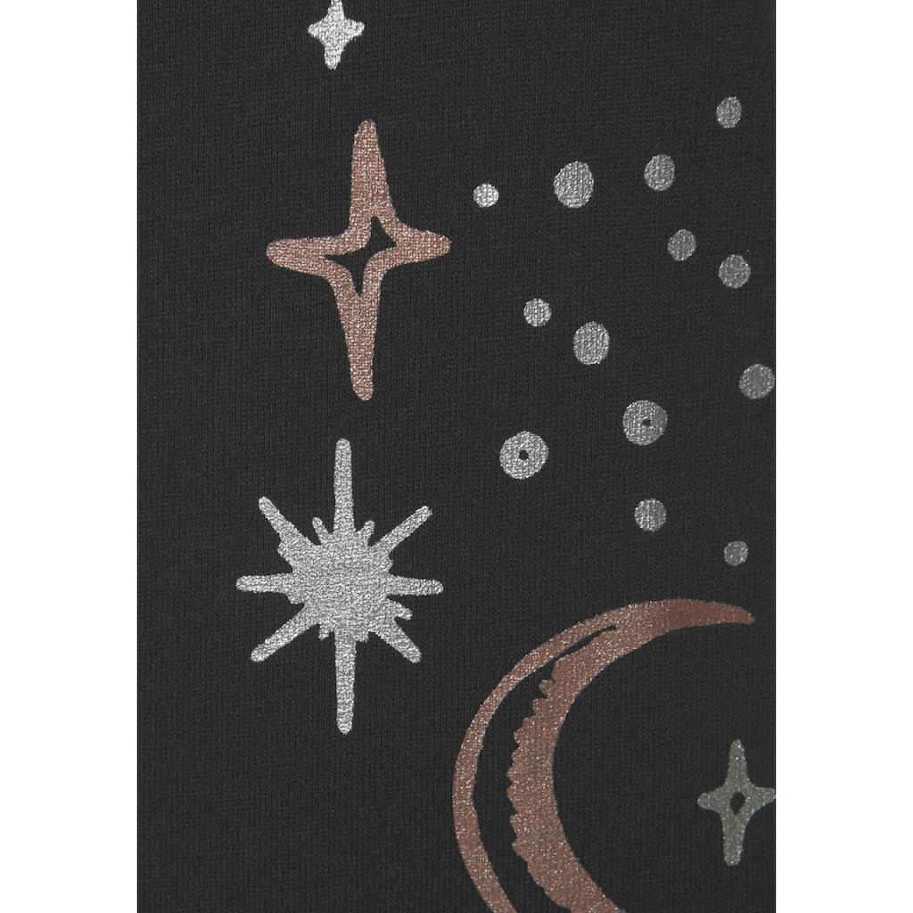 Vivance Dreams Nachthemd, mit Mond- und Sternedruck
