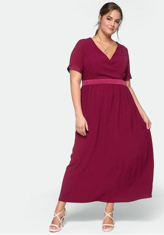 Sheego Abendkleid, Oberteil in Wickeloptik kaufen