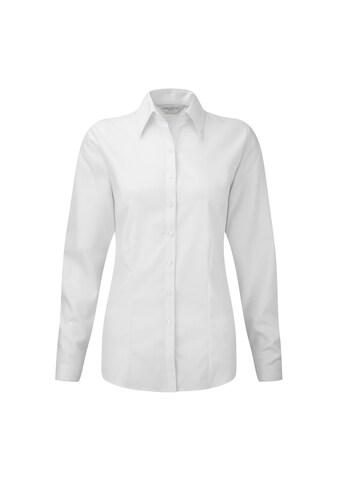 Russell Langarmbluse »Damen Bluse / Hemd mit dezentem Fischgrätenmuster« kaufen