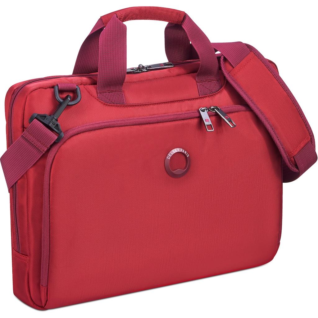 Delsey Businesstasche »Esplanade, 1 Fach, red«, mit 15,6-Zoll Laptopfach
