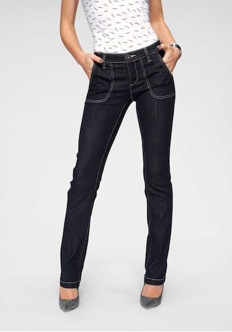 Arizona Straight - Jeans »mit Kontrastnähten« kaufen