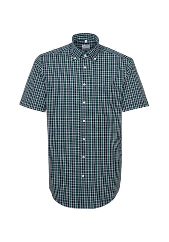 seidensticker Businesshemd »Regular«, Regular Kurzarm Button-Down-Kragen Karo kaufen