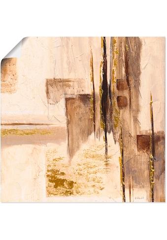 Artland Wandbild »Goldene Silhouette I«, Muster, (1 St.), in vielen Grössen &... kaufen