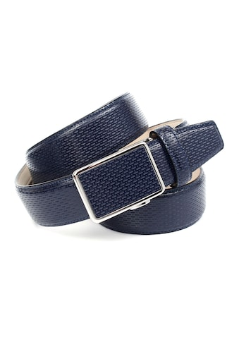 Anthoni Crown Ledergürtel, für blaue Schuhe mit perforiertem Leder kaufen