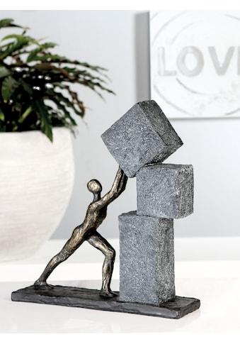 Casablanca by Gilde Dekofigur »Skulptur Stacking, bronzefarben/grau«, Dekoobjekt, Höhe... kaufen