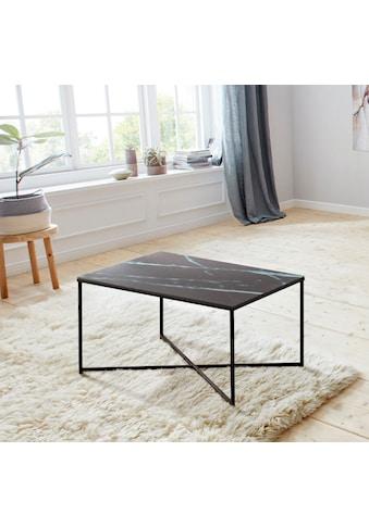andas Couchtisch »Alina«, mit schönem Marmorprint auf der matten Glasplatte und einem... kaufen