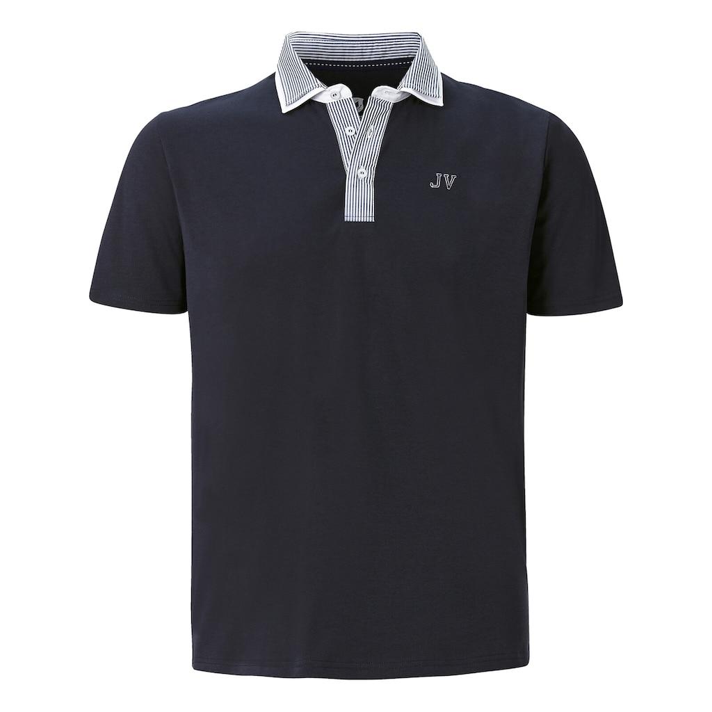Jan Vanderstorm Poloshirt »DANHY«, Kragen mit Streifendesign