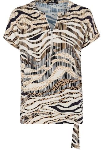 Olsen Print-Shirt, mit einem Druck-Mix aus Zebrastreifen und Leomuster kaufen