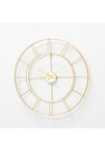 andas Wanduhr, goldfarben, rund, Ø 40 cm, aus Metall kaufen