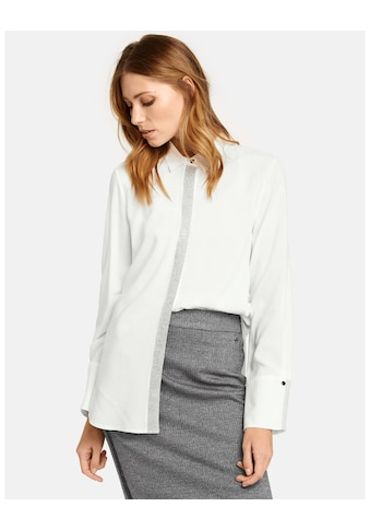 Taifun Bluse Langarm »Hemdbluse mit Glitzerblende« kaufen