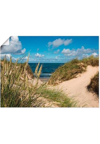 Artland Wandbild »Strand bei Vesterhav«, Strand, (1 St.), in vielen Grössen &... kaufen