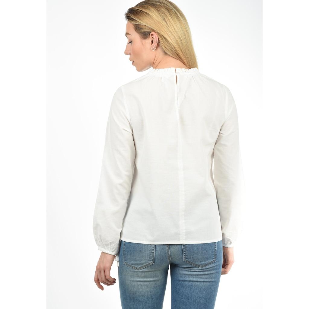 Blendshe Langarmbluse »Anni«, Bluse mit Frillkante am Ausschnitt