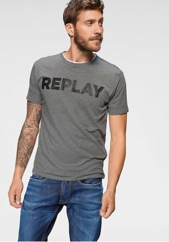Replay T-Shirt, Markenfrontprint kaufen