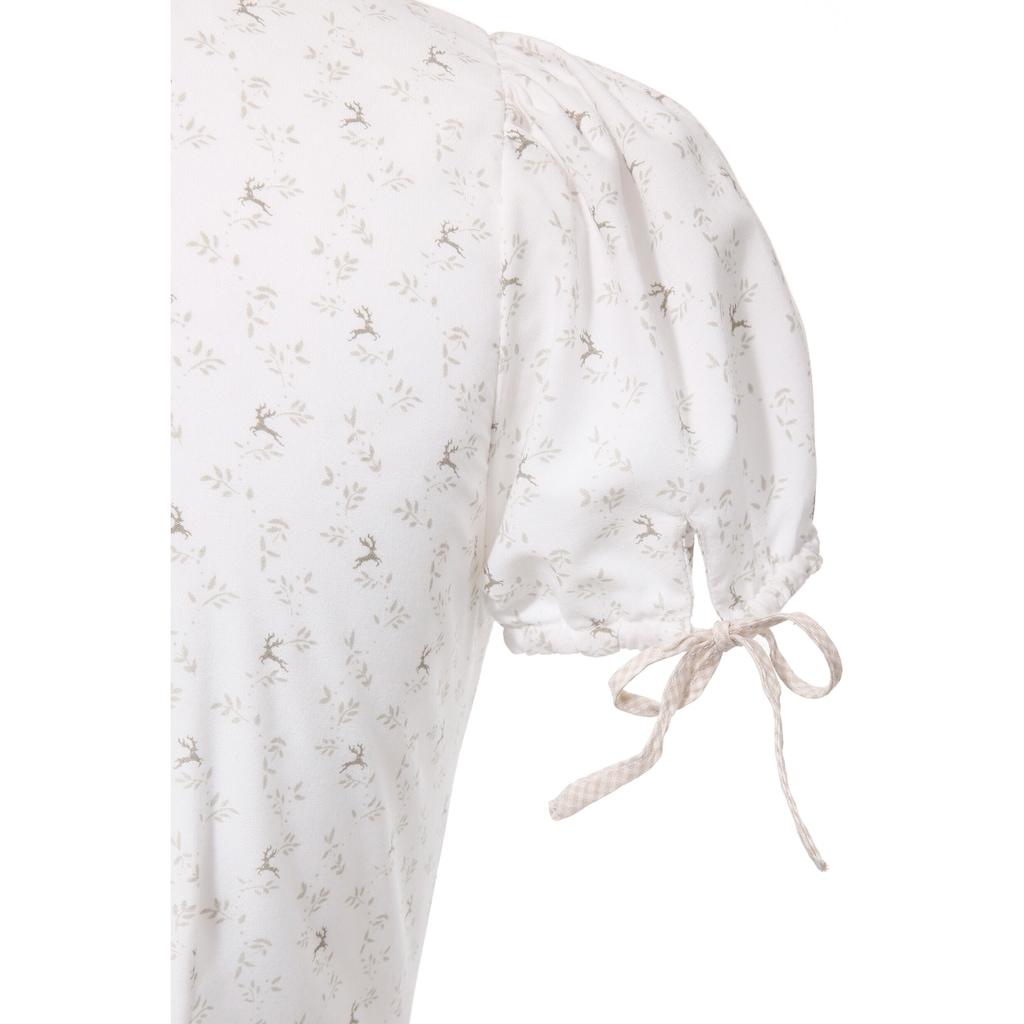 Spieth & Wensky Feierlaune Trachtenbluse, mit All-Over Print