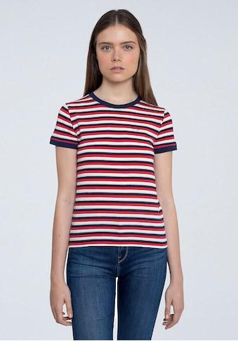 Pepe Jeans Kurzarmshirt »BETHANY«, in tollem Streifen-Design mit Glitzer-Details kaufen