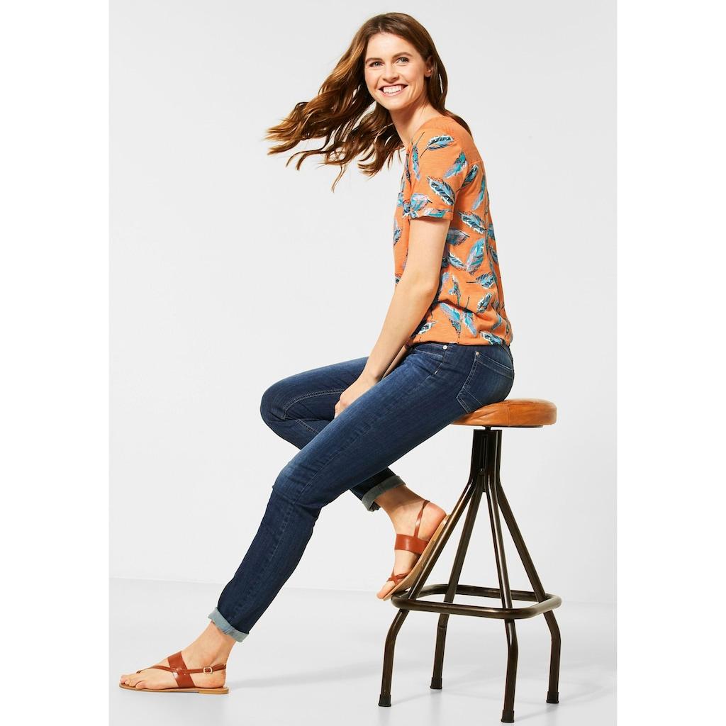 Cecil Print-Shirt, mit Allover-Print und Spitze