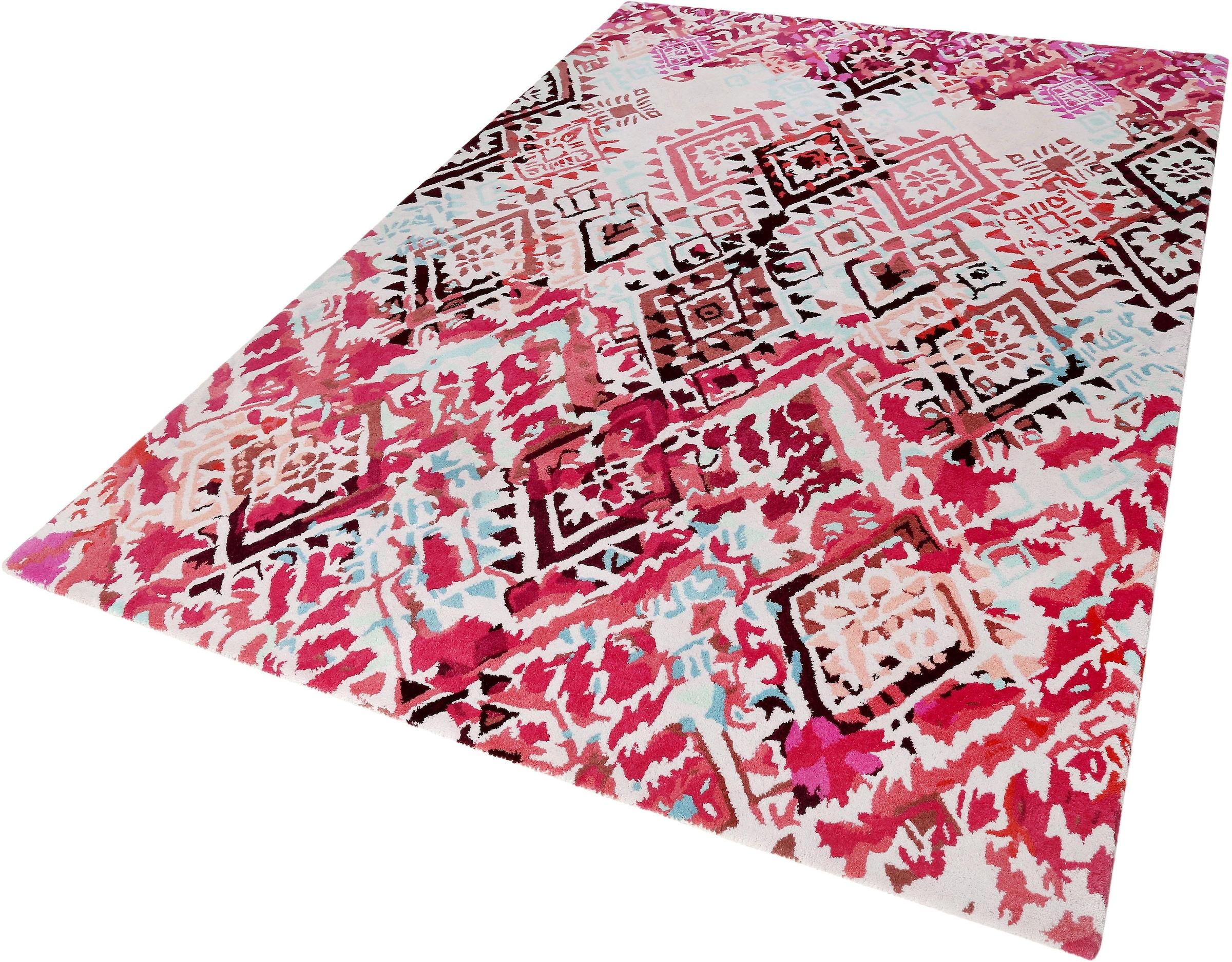 Image of Accessorize Home Wollteppich »Love Vintage«, rechteckig, 16 mm Höhe, reine Wolle, Wohnzimmer