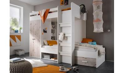 Begabino Hochbett, mit 2 Liegeflächen, Kleiderschrank und Regalen kaufen