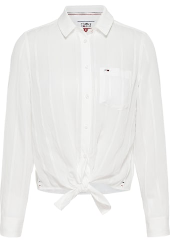 TOMMY JEANS Schlupfbluse »TJW FRONT KNOT SHIRT« kaufen