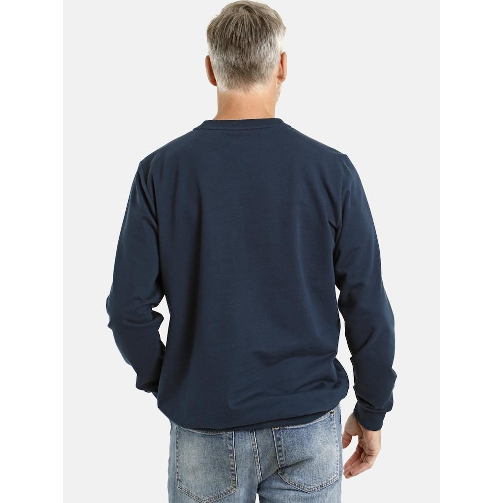 Jan Vanderstorm Sweatshirt »JUKKA«, weiche Baumwolle, Comfort Fit