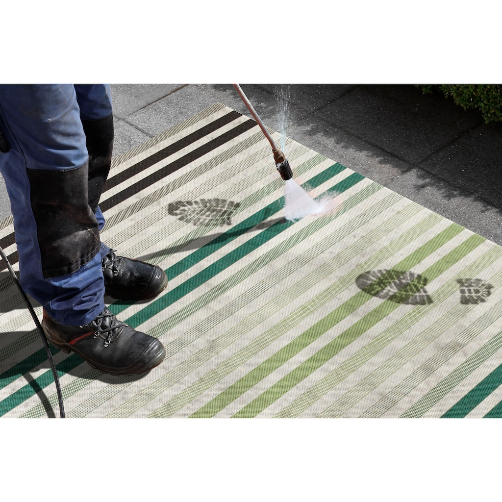 bougari Läufer »Paros«, rechteckig, 8 mm Höhe, Flachgewebe, In- und Outdoor geeignet, Streifen-Design, Für Terasse und Balkon, Flur und Diele