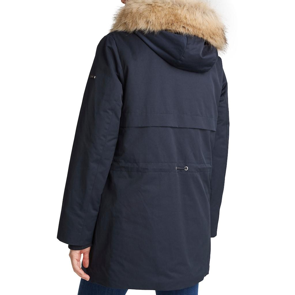 Esprit Winterjacke, mit Fellimitat-Kragen