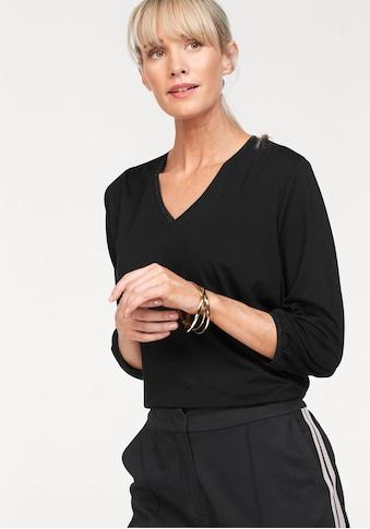 Olsen V-Shirt, mit Raffung an Schulter kaufen