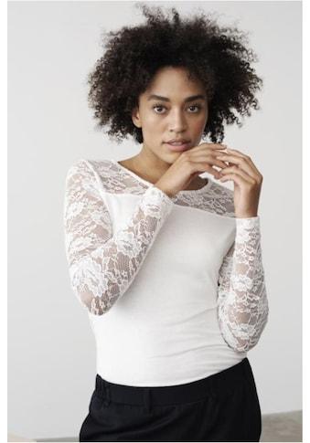 KAFFE Spitzenbluse »Lacy Rundhals« kaufen