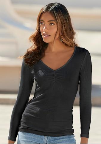 LASCANA Langarmshirt, aus besonders weicher Rippqualität kaufen