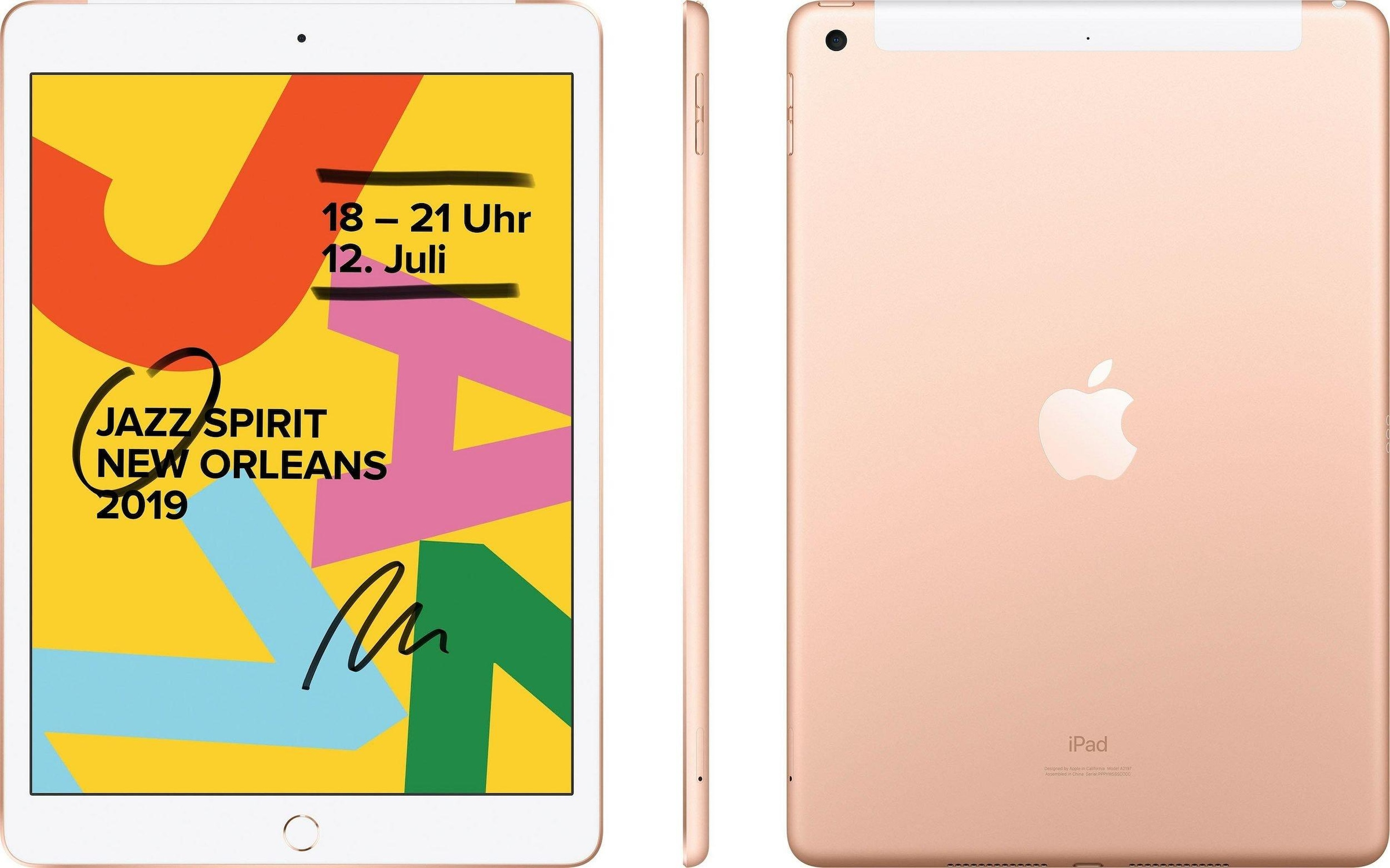 Image of 10.2 iPad Wi-Fi Cellular 32GB (2019) Tablet (10,2 Zoll, 32 GB, iOS, 4G (LTE), Apple