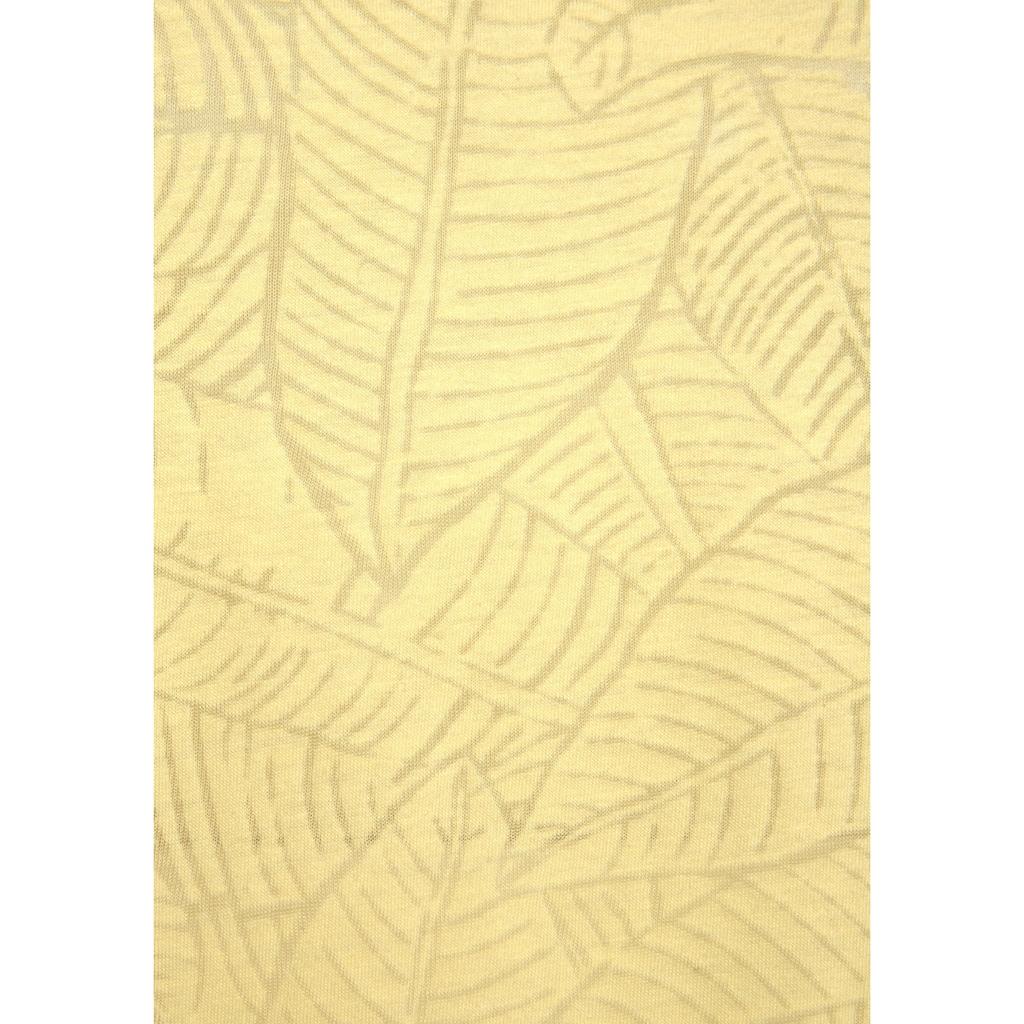 Beachtime Kurzarmshirt, Ausbrenner-Qualität mit transparentem Blätterdesign