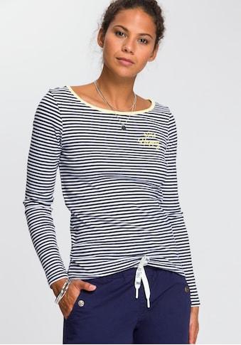 TOM TAILOR Polo Team Langarmshirt, mit sportiven Kontrast-Details kaufen