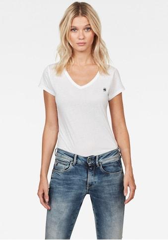 G-Star RAW V-Shirt »Eyben Slim«, mit Logostickerei auf der Brust kaufen