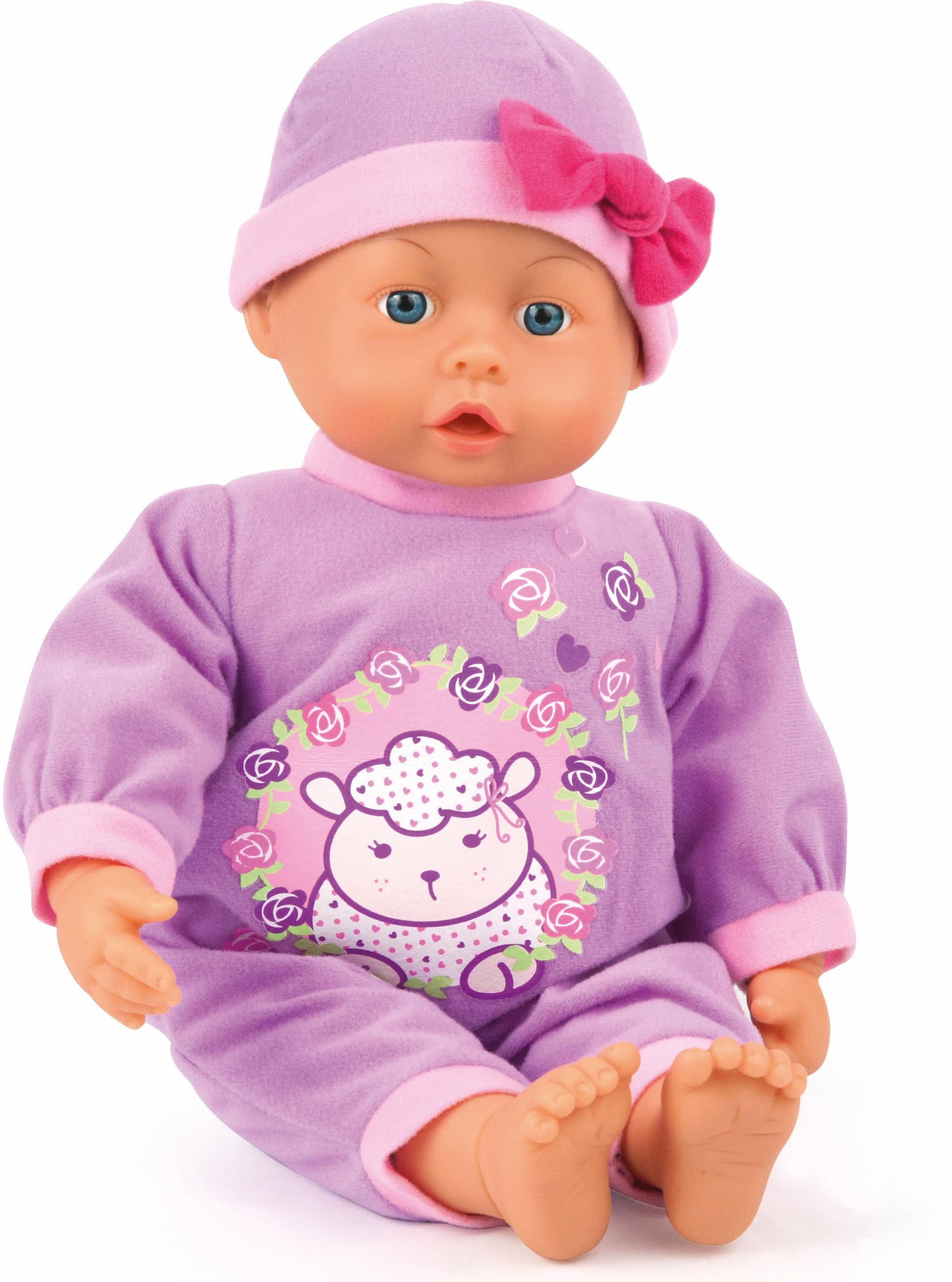 Image of Bayer Design Babypuppe mit Funktion, »First Words Baby, lila 38 cm«