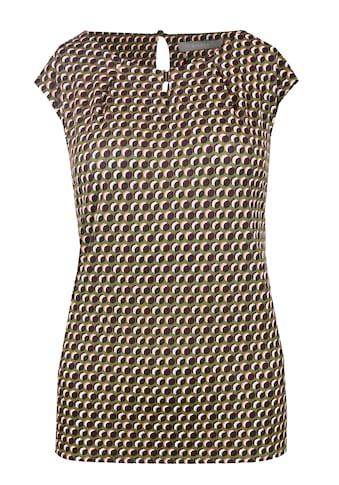 bianca Rundhalsshirt »JUDY«, mit coolem Print und Verschluss am Ausschnitt kaufen